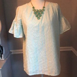 Beautiful Eyelet Summer Shirt